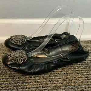 Tahari Ballet Flats Size 8 M Valerie Style Black
